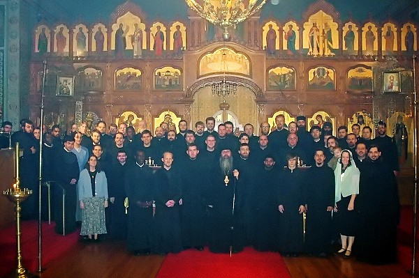 Participants from the various seminaries gathered in the Monastery Church